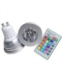 Lampadina led rgb GU10 3w faretto telecomando multicolor luce