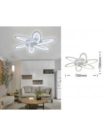 Lampadario plafoniera a led 59w fiore lampada da soffitto bianco design moderno luce fredda naturale