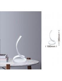Lampada da scrivania led 12w spirale abajour luce tavolo bianca design moderno