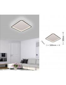 Plafoniera led da soffitto 50w lampadario quadrato bianco design moderno luce fredda naturale per camera cucina salotto