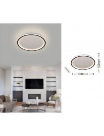 Plafoniera led da soffitto 43w lampadario tondo cerchio design moderno luce bianco naturale per camera cucina salotto
