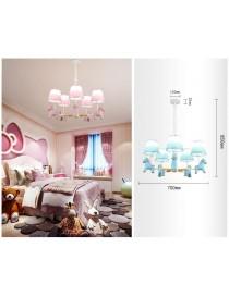 Lampadario sospeso led E27 5 luci cavallo lampada per cameretta bambino bambina con animali rosa celeste