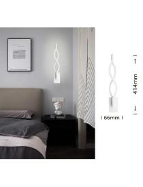 Applique da parete led 9w lampada muro spirale intrecciato bianco design moderno luce fredda naturale calda