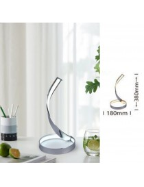Lampada da scrivania led 12w spirale luce tavolo argento design moderno