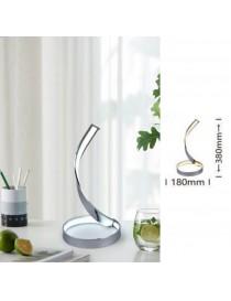 Lampada da scrivania luce led 12w spirale vortice lampada tavolo comodino argento design moderno decorativo
