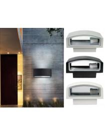Applique plafoniera da esterno parete luce attacco e27 doppia illuminazione