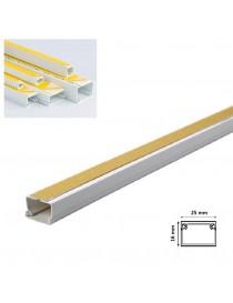 2mt Canalina adesiva 25x16 mm per cavi elettrica in plastica passacavi bianco coprifili a parete con copertura