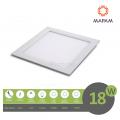 Pannello led quadrato 18W da incasso 21x21 lampada soffitto slim luce bianco naturale calda