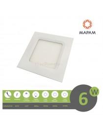 Pannello led quadrato 6W da incasso 12x12 lampada soffitto slim luce calda 3000k