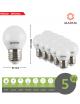 X10 lampadina led E27 globo 5w bulbo G45 luce bianca naturale calda Mapam