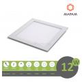 Pannello led quadrato 12W da incasso 17x17 lampada soffitto slim luce bianco naturale calda