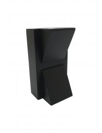 Applique da parete led nero 10w doppia luce lampada esterno muro IP55 moderno