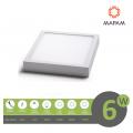 Plafoniera led 6w quadrato faretto da soffitto pannello a parete luce bianco naturale caldo