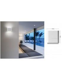 Applique led cob 10w rettangolare sottile bianco per esterno con biemissione di luce naturale lampada da parete slim moderno