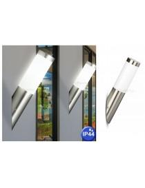 Applique luce led attacco E27 lampada da muro per esterno giardino acciaio alluminio segnapasso rotondo