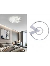 Plafoniera luce led 32w lampadario con cerchi design moderno rotondo bianco da soffitto