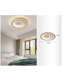 Plafoniera luce led 70w rotonda cerchio bianco lampadario da soffitto piatta moderna per camera salotto