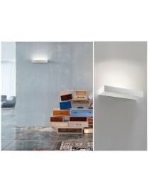 Applique da parete in gesso attacco R7S lampada lineare luce verso l'alto design moderno bianco verniciabili