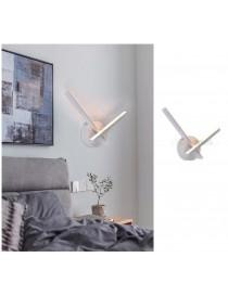 Applique da parete luce led 6w incrociato bianco lampada design moderno decorativo 2 bracci lineare per camera bagno soggiorno