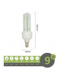 Lampadina led E14 9w 3U luce tubolare tubo attacco piccolo lineare bianca fredda naturale calda