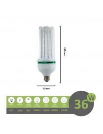 Lampadina led E27 36w 4U luce tubolare tubo attacco grande lineare bianca fredda naturale calda