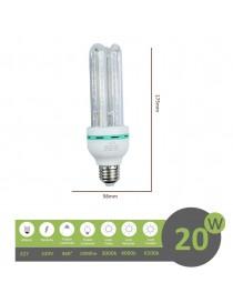 Lampadina led E27 20w 4U luce tubolare tubo attacco grande lineare bianca fredda naturale calda