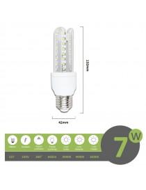 Lampadina led E27 7w 3U luce tubolare tubo attacco grande lineare bianca fredda naturale calda