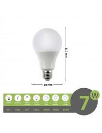 Lampadina led A60 E27 7w bulbo opaco luce attacco grande bianca naturale calda