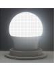 Lampadina led bulbo A70 E27 15w copertura opaca luce attacco grande bianca naturale calda
