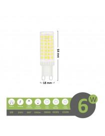 Lampadina led attacco G9 6w 88D luce bianca fredda naturale calda alta luminosità