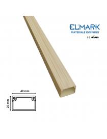 2 mt Canalina per cavi elettrica 40x25 mm in plastica passacavi legno chiaro coprifili a parete con copertura