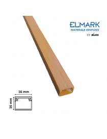 2 mt Canalina per cavi elettrica 16x16 mm in plastica passacavi legno noce coprifili a parete con copertura