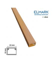 2 mt Canalina per cavi elettrica 12x12 mm in plastica passacavi legno noce coprifili a parete con copertura