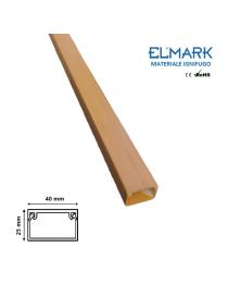 2 mt Canalina per cavi elettrica 40x25 mm in plastica passacavi legno noce coprifili a parete con copertura