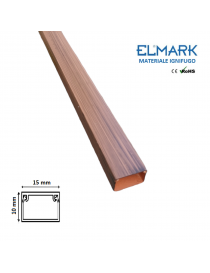 2 mt Canalina per cavi elettrica 15x10 mm in plastica passacavi legno scuro coprifili a parete con copertura