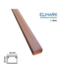 2 mt Canalina per cavi elettrica 16x16 mm in plastica passacavi legno scuro coprifili a parete con copertura