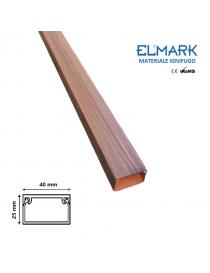 2 mt Canalina per cavi elettrica 40x25 mm in plastica passacavi legno scuro coprifili a parete con copertura