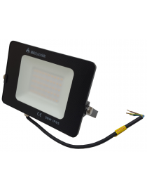 Faro led smd 50w proiettore IP65 da esterno faretto nero altà luminosità luce calda fredda metallo