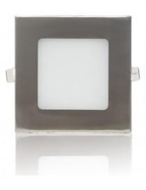 Pannello quadrato led 6w acciaio satinato nichel slim faretto incasso Downlight