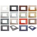 Placche Compatibili Bticino LIVING LIGHT placca 3 4 7 moduli vari colori per supporti LN4703 e N4703